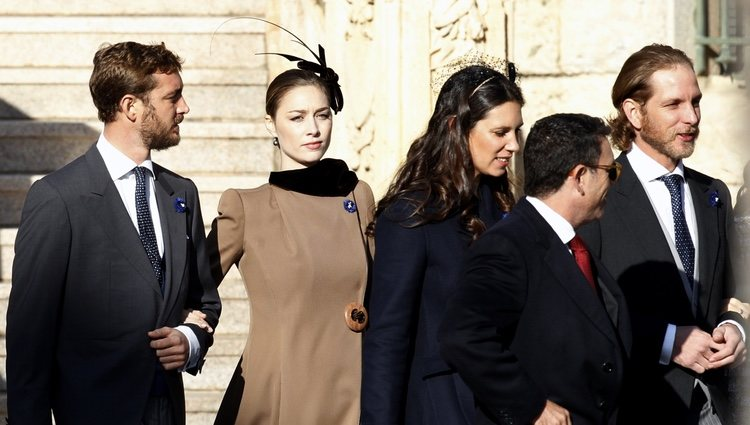 Pierre Casiraghi, Beatrice Borromeo, Tatiana Santo Domingo y Andrea Casiraghi en el Día Nacional de Mónaco 2018