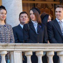 Alexandra de Hannover, Pauline Ducruet y Louis Ducruet en el Día Nacional de Mónaco 2018