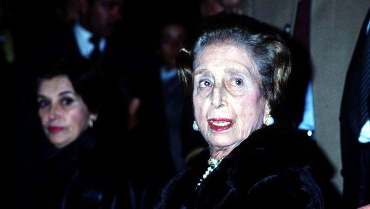 Carmen Polo en una de sus últimas apariciones públicas