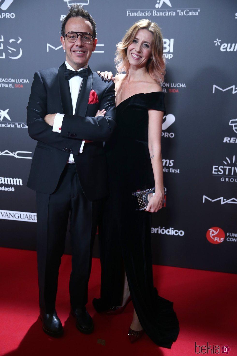 Ángel Llàcer y Andrea Vilallonga en la gala 'People in red' 2018