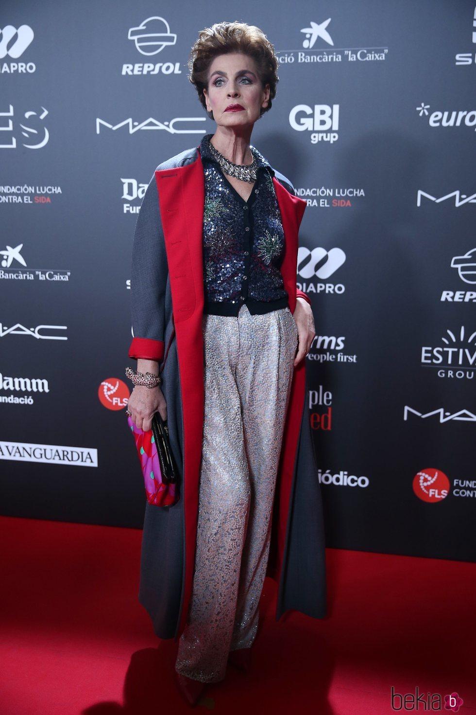 Antonia Dell'Atte en la gala 'People in red' 2018
