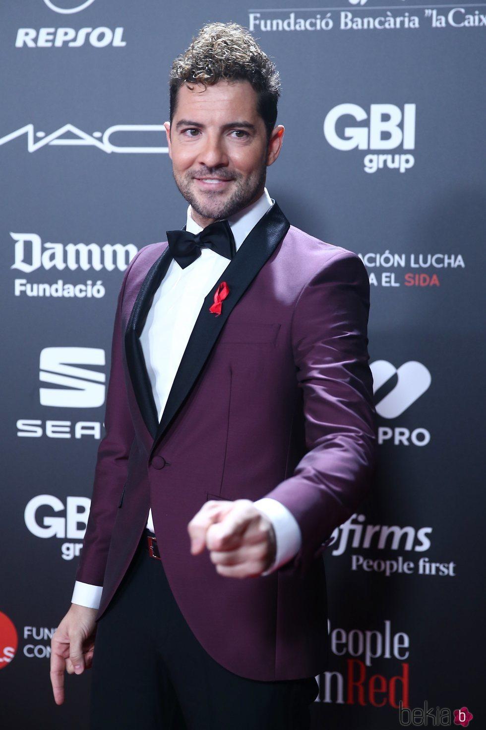 David Bisbal en la gala 'People in red' 2018