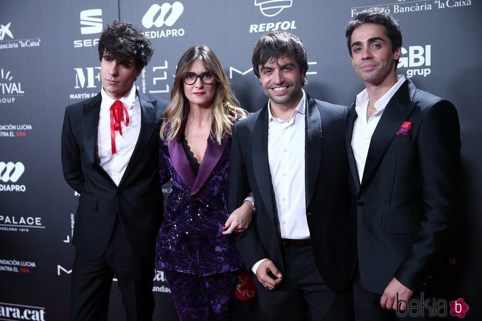 Javier Calvo, Noemí Galera, Manu Guix y Javier Ambrossi en la gala 'People in red' 2018