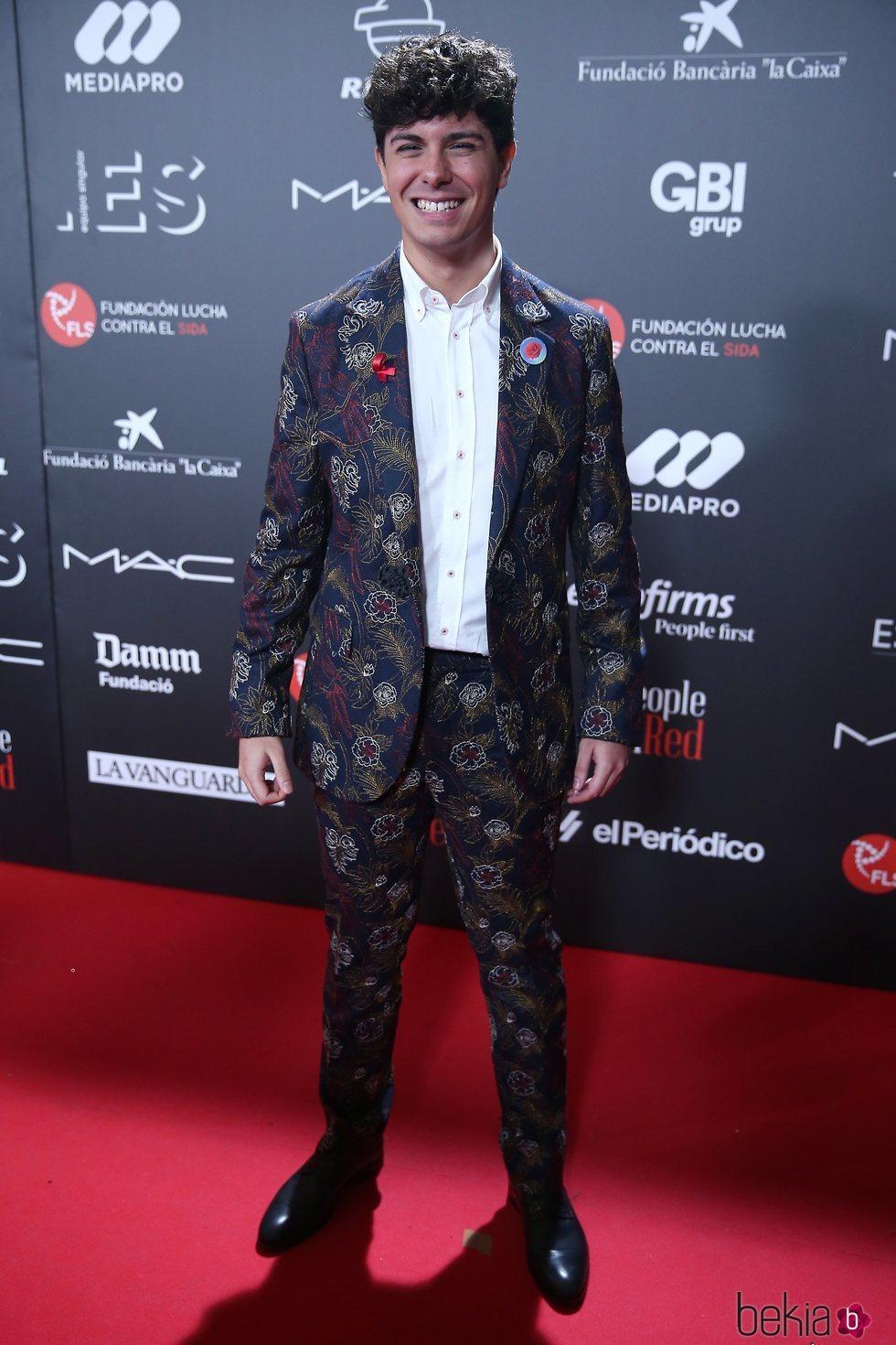 Alfred García en la gala 'People in red' 2018