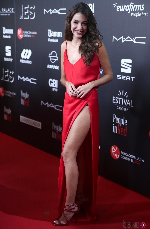 Ana Guerra en la gala 'People in red' 2018
