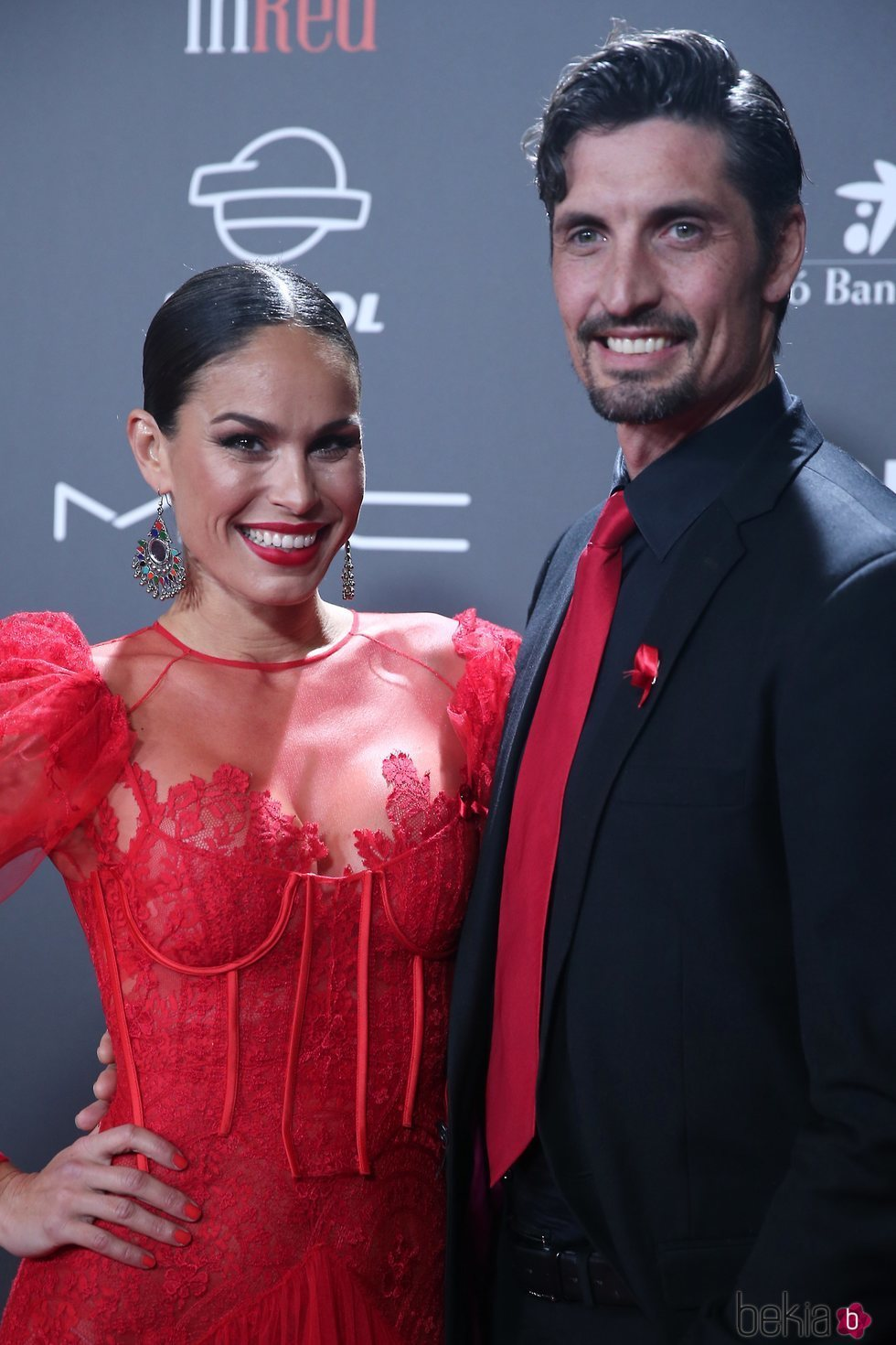 Mireia Canalda y Felipe López en la gala 'People in red' 2018
