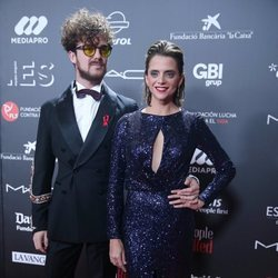 Macarena Gómez y Aldo Comas en la gala 'People in red' 2018
