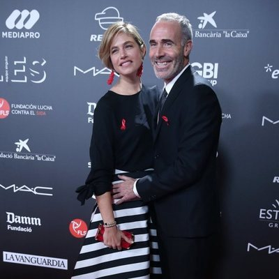 Martina Klein y Álex Corretja en la gala 'People in red' 2018