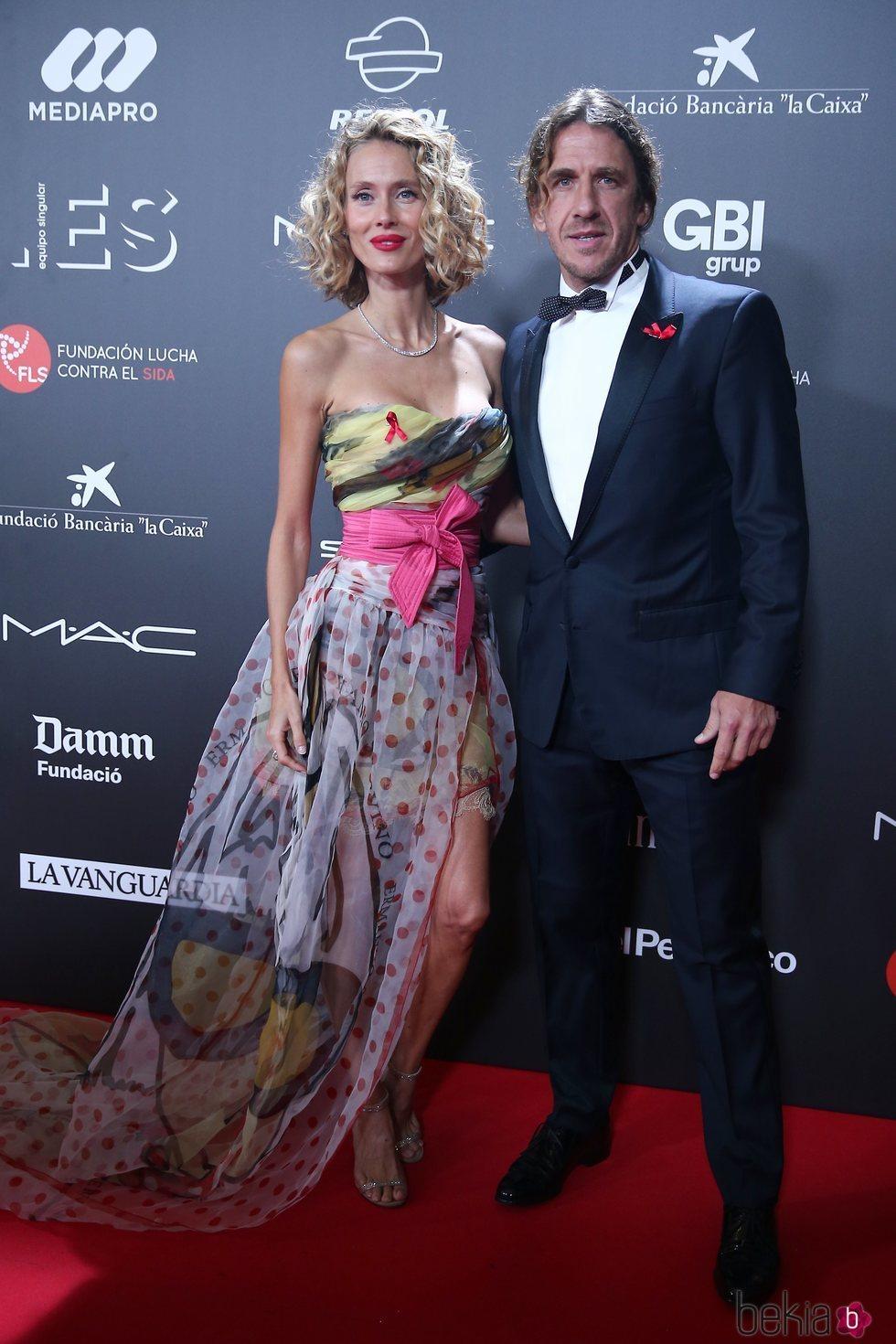 Carles Puyol y Vanesa Lorenzo en la gala 'People in red' 2018