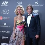 Carles Puyol y Vanesa Lorenzo en la gala 'People in red' 2018