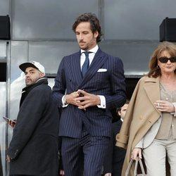 Feliciano López a su salida de los juzgados
