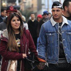 Chabelita Pantoja y Omar Montes por las calles de Madrid