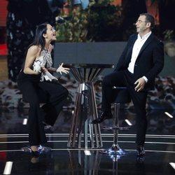 Aurah Ruiz y Jorge Javier Vázquez en la Gala 11 de 'Gran Hermano Vip 6'