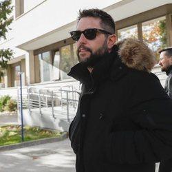 Dani Mateo a su salida del juzgado