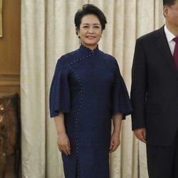 La Primera Dama china Peng Liyuan durante su visita oficial a España