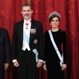 Los Reyes Felipe y Letizia en la cena de gala al Presidente de China