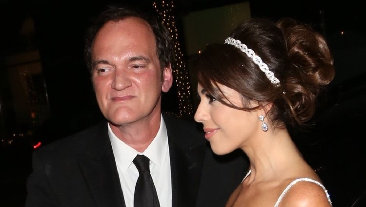Quentin Tarantino en su boda con Daniella Pick