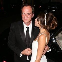 Quentin Tarantino después de su boda con Daniella Pick