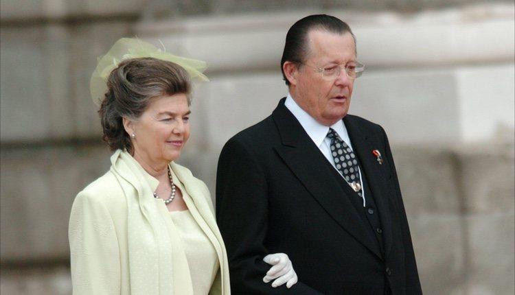 Los Duques de Calabria en la boda de los Príncipes de Asturias