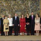 Los Duques de Calabria, Carlos Zurita, la Infanta Margarita, la Infanta Pilar, los Reyes de España, la Infanta Cristina, Iñaki Urdangarín, la Infanta Elena