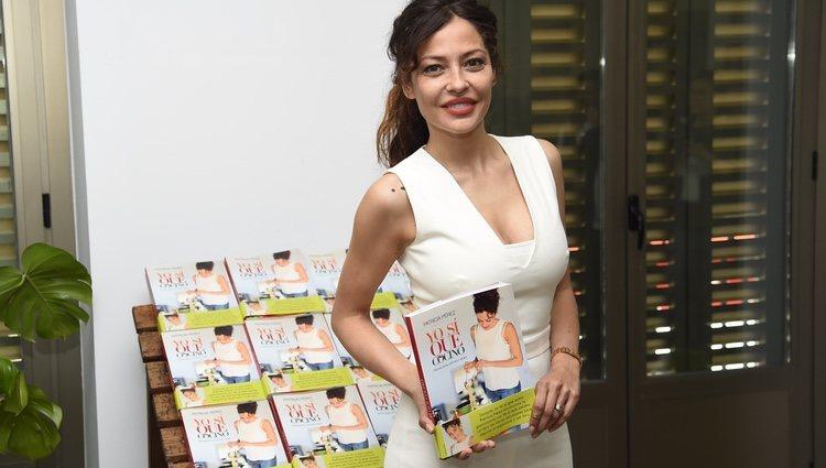 Patricia Pérez durante la presentación del libro 'Yo sí que cocino'