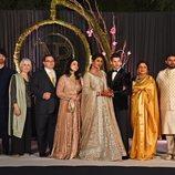 Nick Jonas y Priyanka Chopra junto a sus familiares en Nueva Delhi