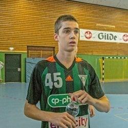 Pablo Urdangarin en un partido de balonmano