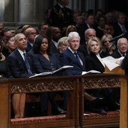 Líderes de EEUU en el funeral de George W. H. Bush