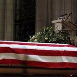 George W. Bush durante su discurso en el funeral de su padre