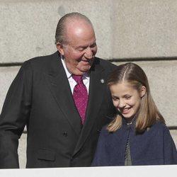 El Rey Juan Carlos y la Princesa Leonor en el 40 aniversario de la Constitución Española