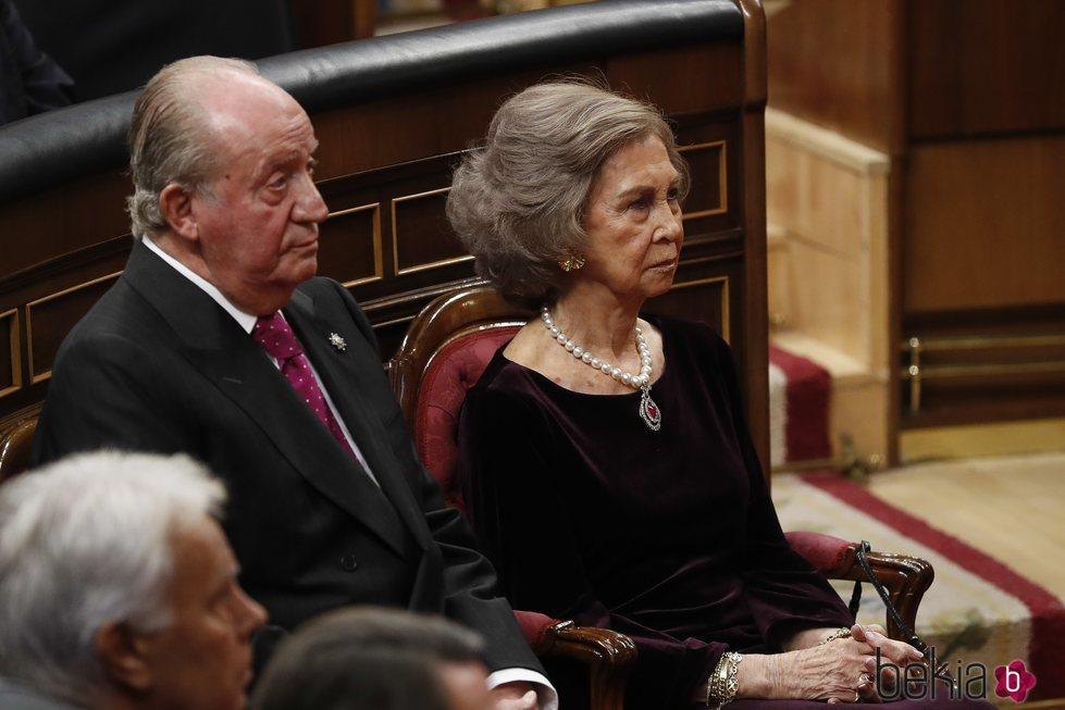 Los Reyes Juan Carlos y Sofía en el 40 aniversario de la Constitución
