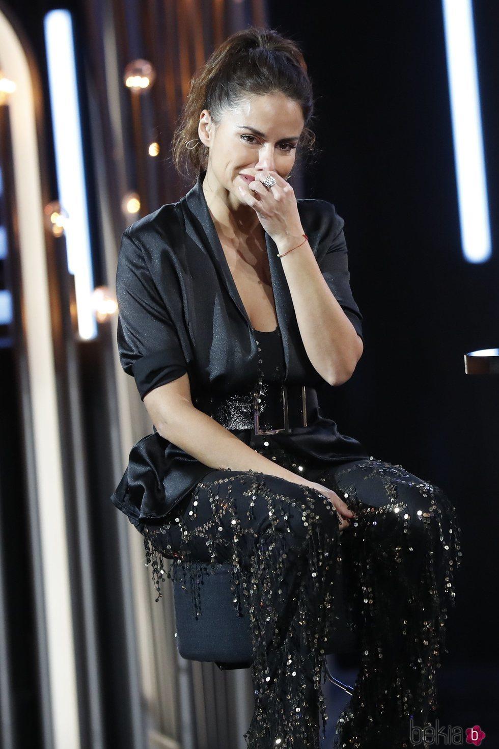 Mónica Hoyos llorosa durante su entrevista en la gala 13 de 'GH VIP 6'