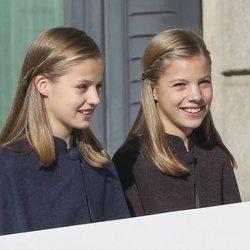 La Princesa Leonor y la Infanta Sofía en el 40 aniversario de la Constitución