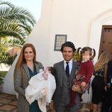 Olivia de Borbón y Julián Porras en el bautizo de su segundo hijo