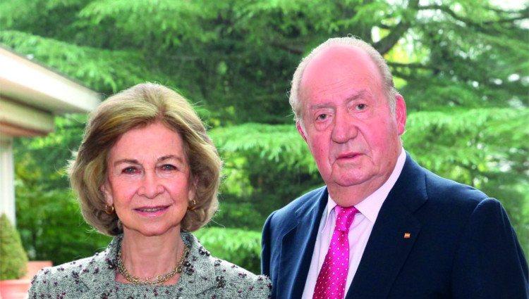 Los Reyes Juan Carlos y Sofía en su felicitación de Navidad 2018