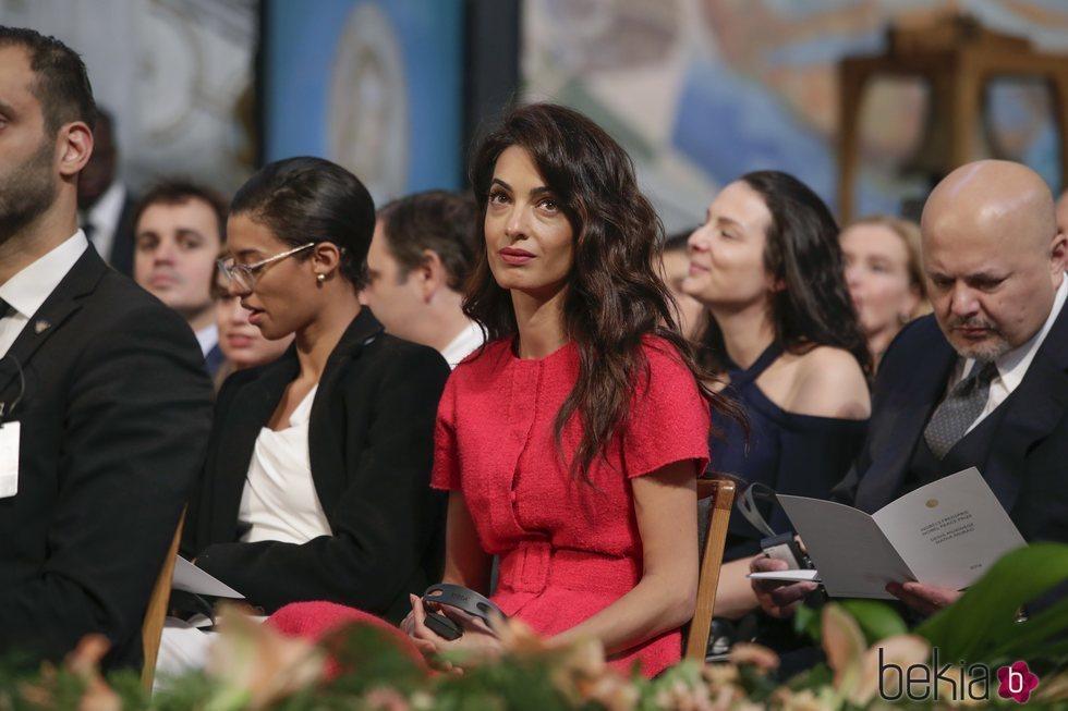Amal Clooney en los Premios Nobel de la Paz 2018