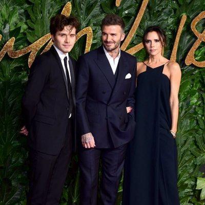 Brooklyn, David y Victoria Beckham en los British Fashion Awards 2018