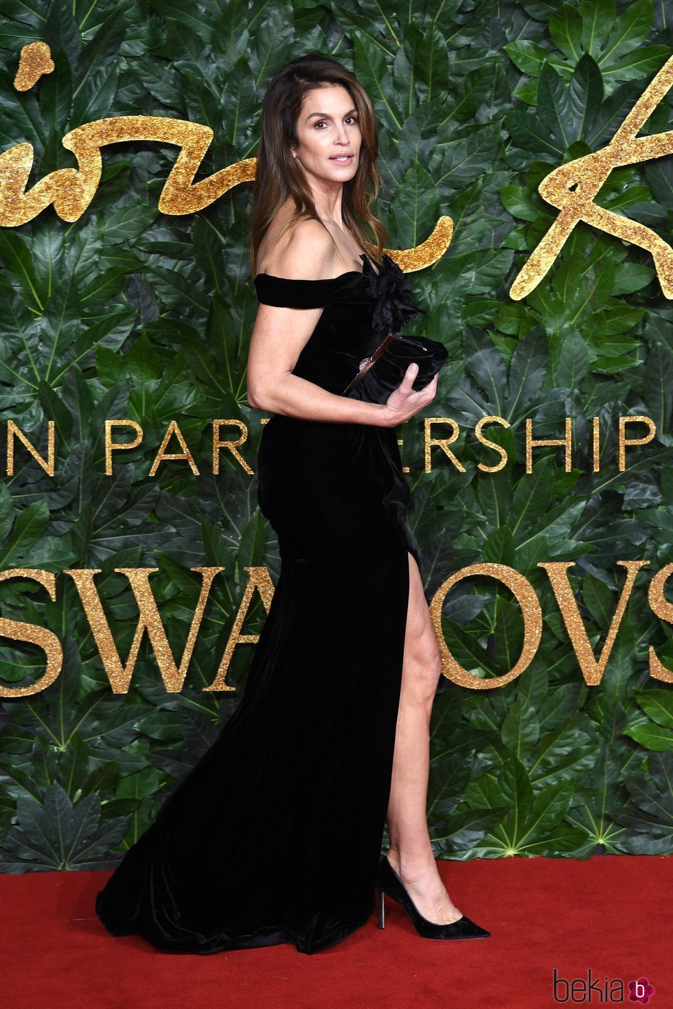 Cindy Crawford en los British Fashion Awards 2018