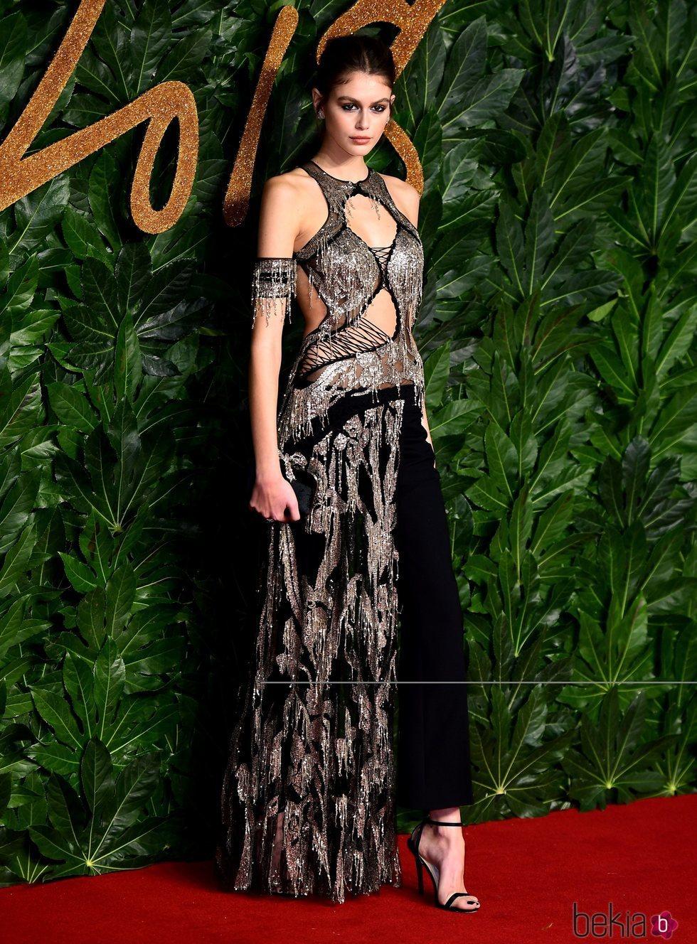 Kaia Gerber en los British Fashion Awards 2018