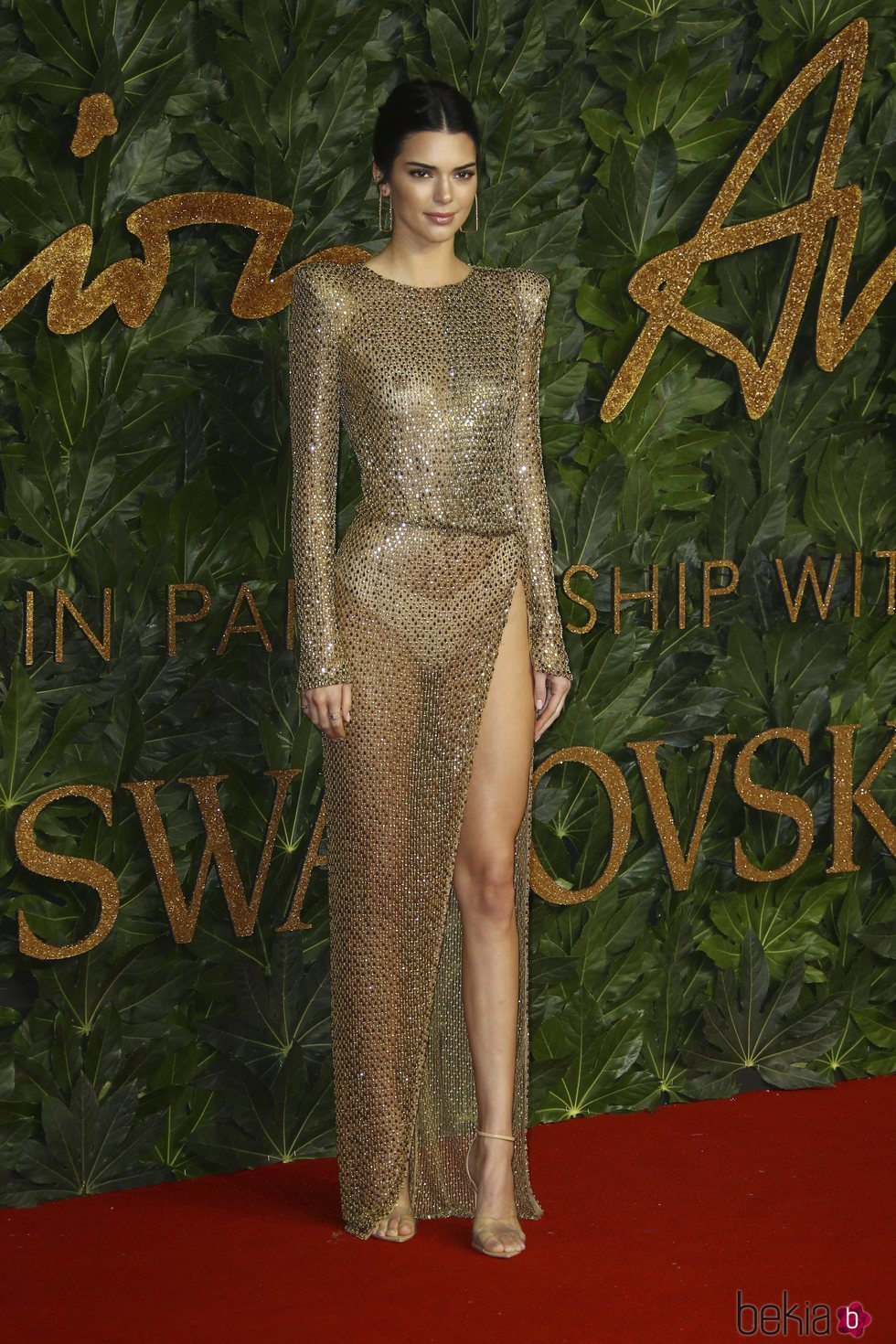 Kendall Jenner en los British Fashion Awards 2018