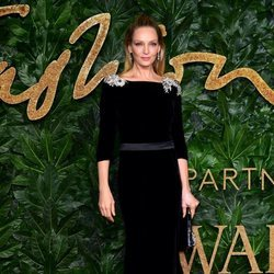 Uma Thurman en los British Fashion Awards 2018