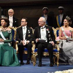 La Familia Real Sueca en la gala de entrega de los Premios Nobel 2018