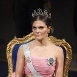 Victoria de Suecia en la gala de entrega de los Premios Nobel 2018