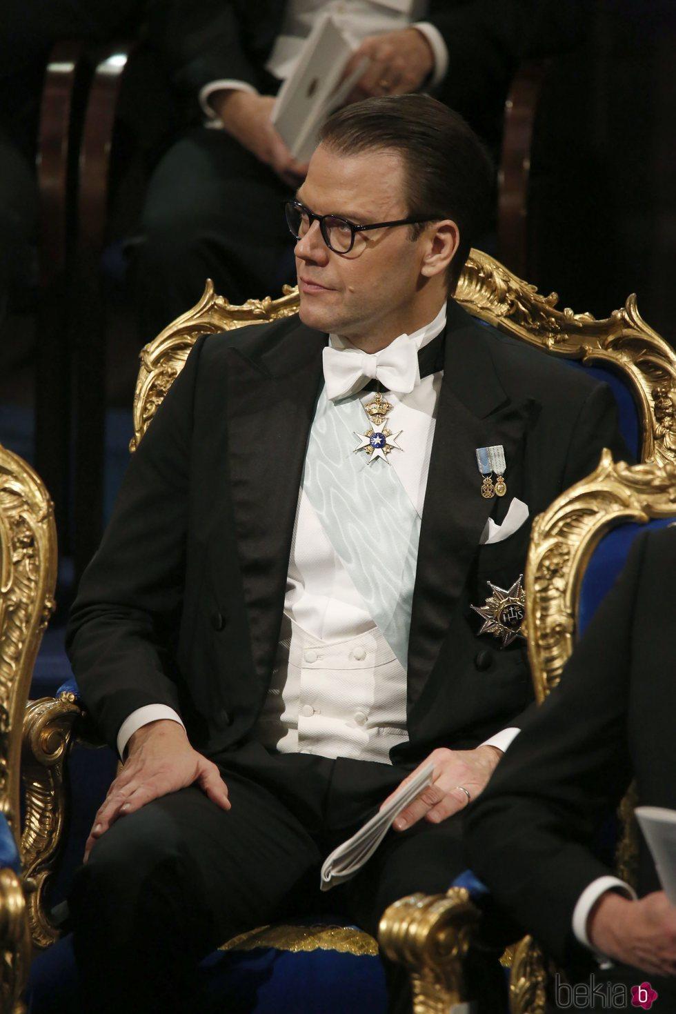El Príncipe Daniel de Suecia durante la gala de entrega de los Premios Nobel 2018