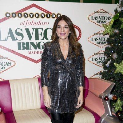 Raquel Bollo en la fiesta de Navidad de 'Sálvame'