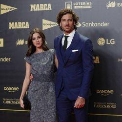 Feliciano López y Sandra Gago en el 80 aniversario de Marca
