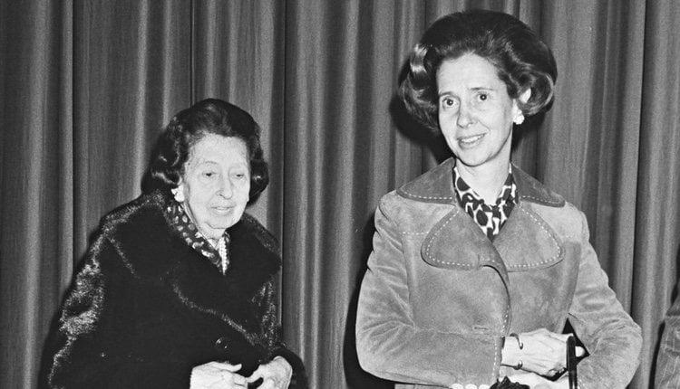 La Reina Fabiola de Bélgica junto a su madre, la Marquesa de Casa Torres