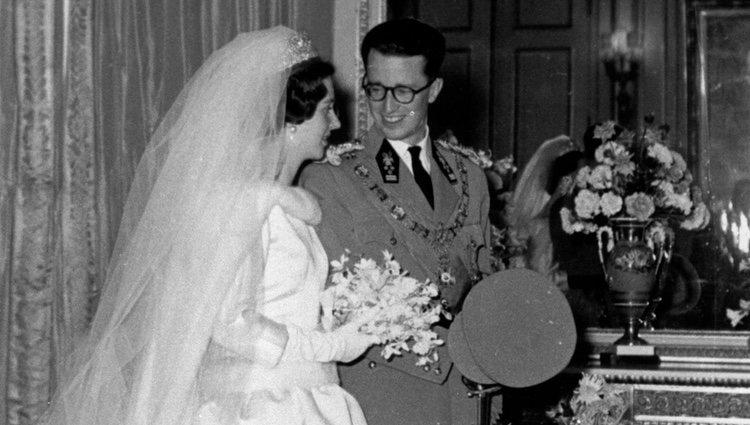 Los Reyes Balduino y Fabiola de Bélgica el día de su boda