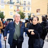 Bernardo Pantoja y Junco acudiendo al entierro de Chiquetete