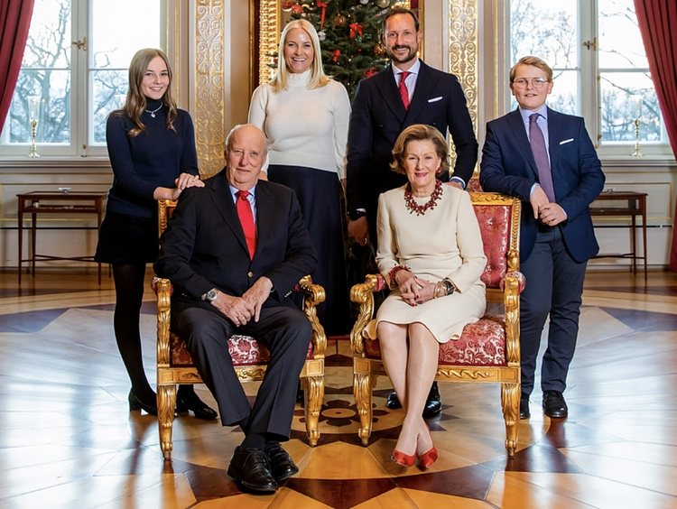 La Familia Real Noruega en su felicitación de Navidad 2018